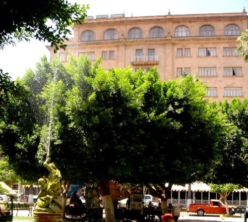 """Ciudad de Torreón, """"La Perla de la Laguna"""". Plaza de Armas (Plaza Hidalgo). Considerada como una Ciudad Industrial con mayor producciòn de plata y lácteos (Grupo Industrial Lala)"""