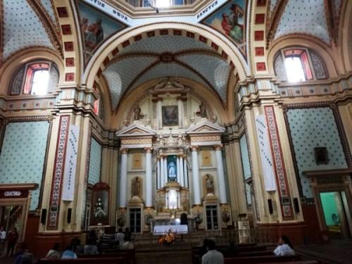 Interior de la Parroquía de la Purísima Concepción. Real de Catorce SLP