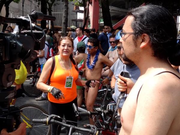 Ciclista al Desnudo, Cd. de México, 8ava. edición,WNBR, 8 junio 2013
