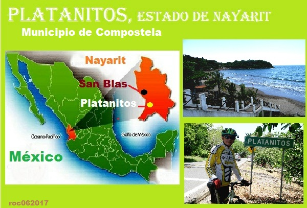 Cicloturismo Playa Platanitos, estado de Nayarit, localización