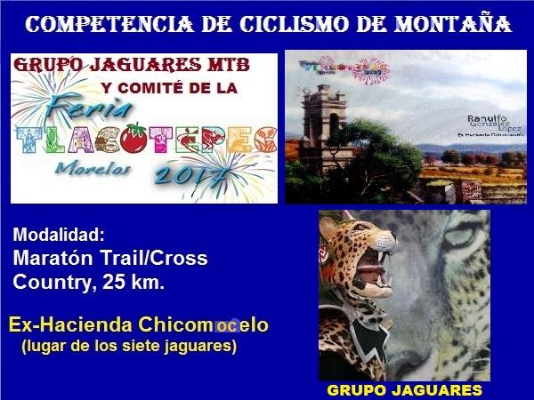 Jaguares MTB, Tlacotepec, competencia 2017, Hacienda Chicomocelo