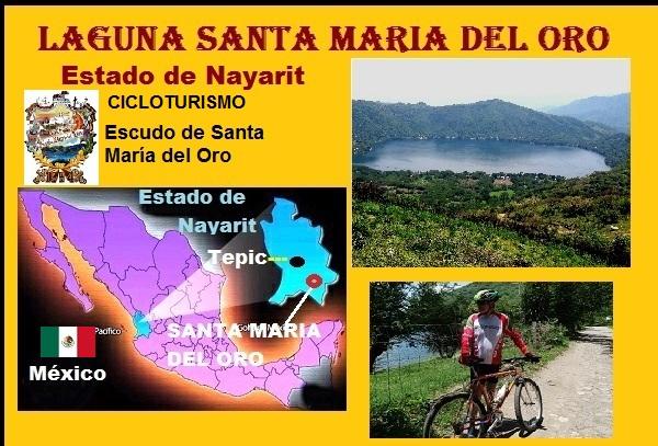 Laguna Santa María del Oro, estado de Nayarit. Cicloturismo México