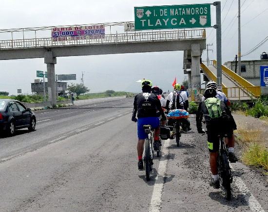 Ruta Chichimeca 2017, rodando de Cuautla a Izúcar, entronque a Tlayca