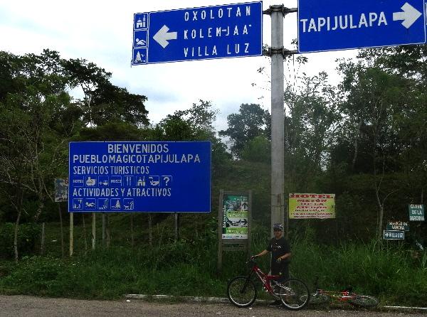 Cicloturismo entronque Tapijulapa-Oxolotán, Estado de Tabasco