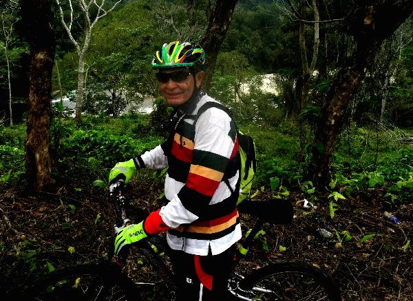 Rodando hacia Cascadas de Villa Luz, Tabasco. Cicloturismo 2017
