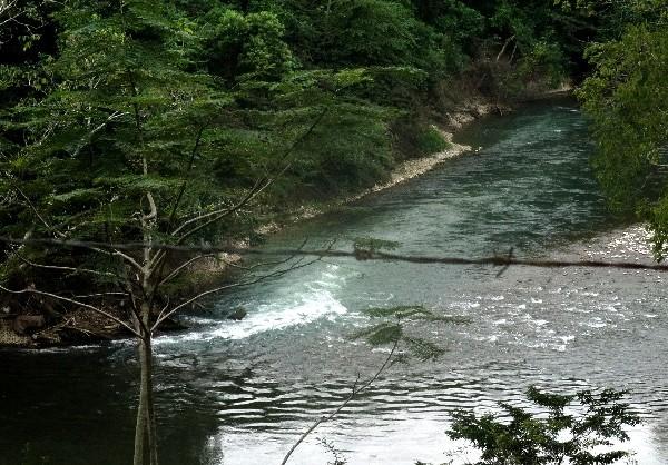 Río Amatán, ruta Tapijulapa-Villa Luz, cicloturismo 2017, estado de Tabasco