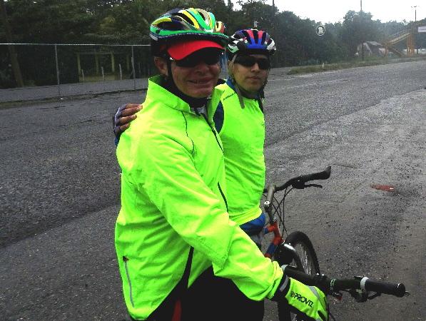 Receso cicloturista ruta autopista Dos Bocas, Comalcalco, Paraiso estado de Tabasco 2018