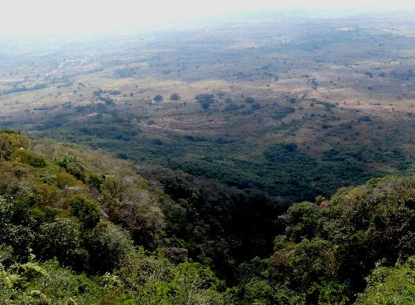 Paisaje visto desde bicicleta, Cumbre de los Altos de Chiapas, rumbo a San Cristóbal de las Casas