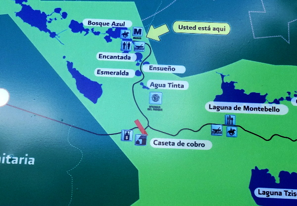 Ubicación y localización de las diversas Lagunas de Montebello Chiapas
