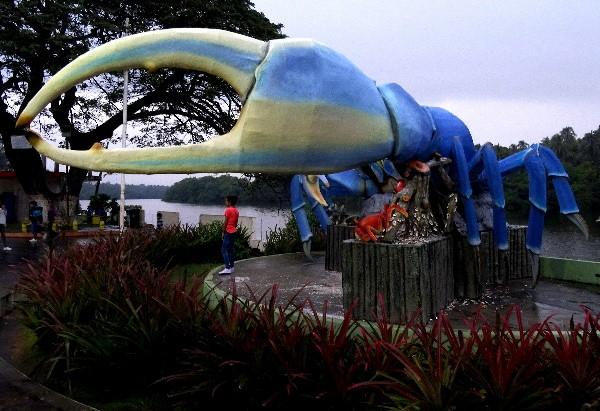 Puerto Ceiba Tabasco, monumento al cangrejo azul, cicloturismo 2018