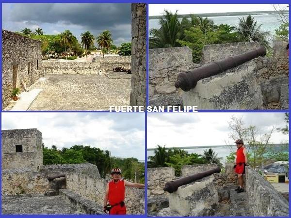 Fuerte San Felipe de Bacalar Pueblo Mágico en bicicleta Estado de Quintana Roo