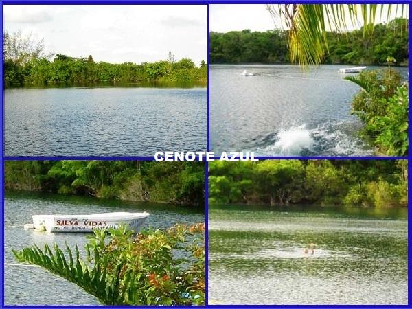 Cenote Azul, en Bacalar Pueblo Mágico, Estado de Durango