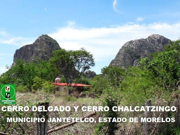 Cerros Delgado y Chalcatzingo, Zona Arqueológica, Jantetelco Estado de Morelos. Senderismo México