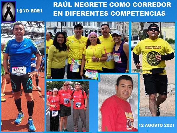 Raúl Negrete (1970-2021) como corredor en diferentes competencias