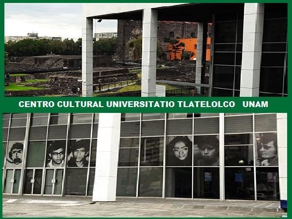 Imágenes del Centro Cultural Universitario, en Tlatelolco Plaza de las Tres Culturas, Alcaldía Cuauhtémoc, Cd. de México. Senderismo urbano-cultural