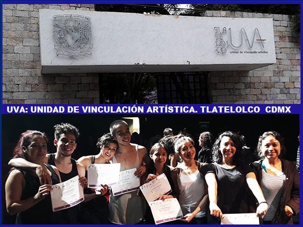 Alumnos de la Unidad de Vinculación Artística UNAM, año 2016, Tlatelolco Alcaldía Cuauhtémoc, Cd. de México, senderismo urbano cultural